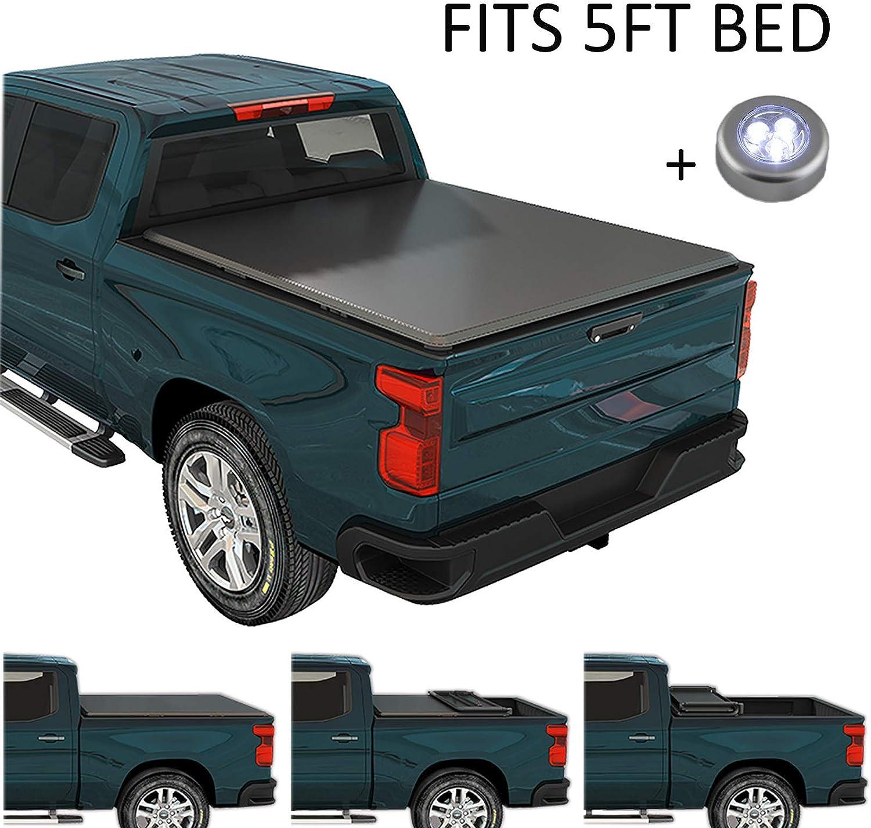 CARMOCAR Soft Tri-Fold Tonneau Cover for Nissan Frontier