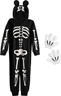Disney Mickey Mouse Glow-in-The-Dark Skeleton Costume for Boys