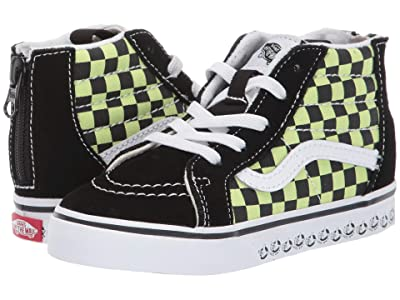 Vans Kids Sk8-Hi Zip (Infant/Toddler) ((Vans BMX) Black/Sharp Green) Boys Shoes