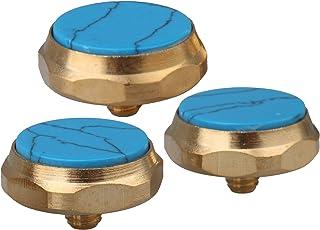 دکمه های انگشتی شیپور خاتم آبی فیروزه ای Yibuy قطعات سازنده برنج
