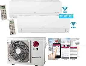 LG 2.5 TON 30000 BTU SEER 20 Dual Zone 12K + 18K BTU Heat and Cool Mini Split AC Heat Pump System Energy Star with Built in WiFi