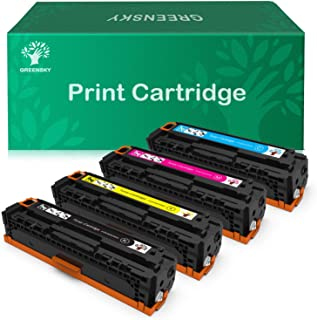 GREENSKY Compatible Toner Cartridge Replacement for HP 128A CE320A CE321A CE322A CE323A for HP Color Laserjet CP1525n CP1525nw CM1415fn CM1415fnw (4-Pack)