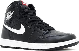 NIKE Mens AIR Jordan 1 Retro HIGH OG, Black/White-Black, 12.5