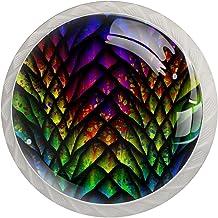 Ladeknop Pull Handle 4 stuks Crystal Glass Cabinet lade trekt kast knoppen, met schroeven, voor Home Office Cabinet kast d...
