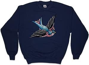 Urban Backwoods Oldschool Tattoo Swallow Sweatshirt Pullover Sweater
