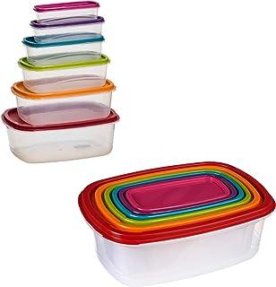 VITA PERFETTA 6 x Boites Hermétiques Alimentaires avec Couvercles - Boîtes de Conservation Rectangulaire- pour Réfrigérate...