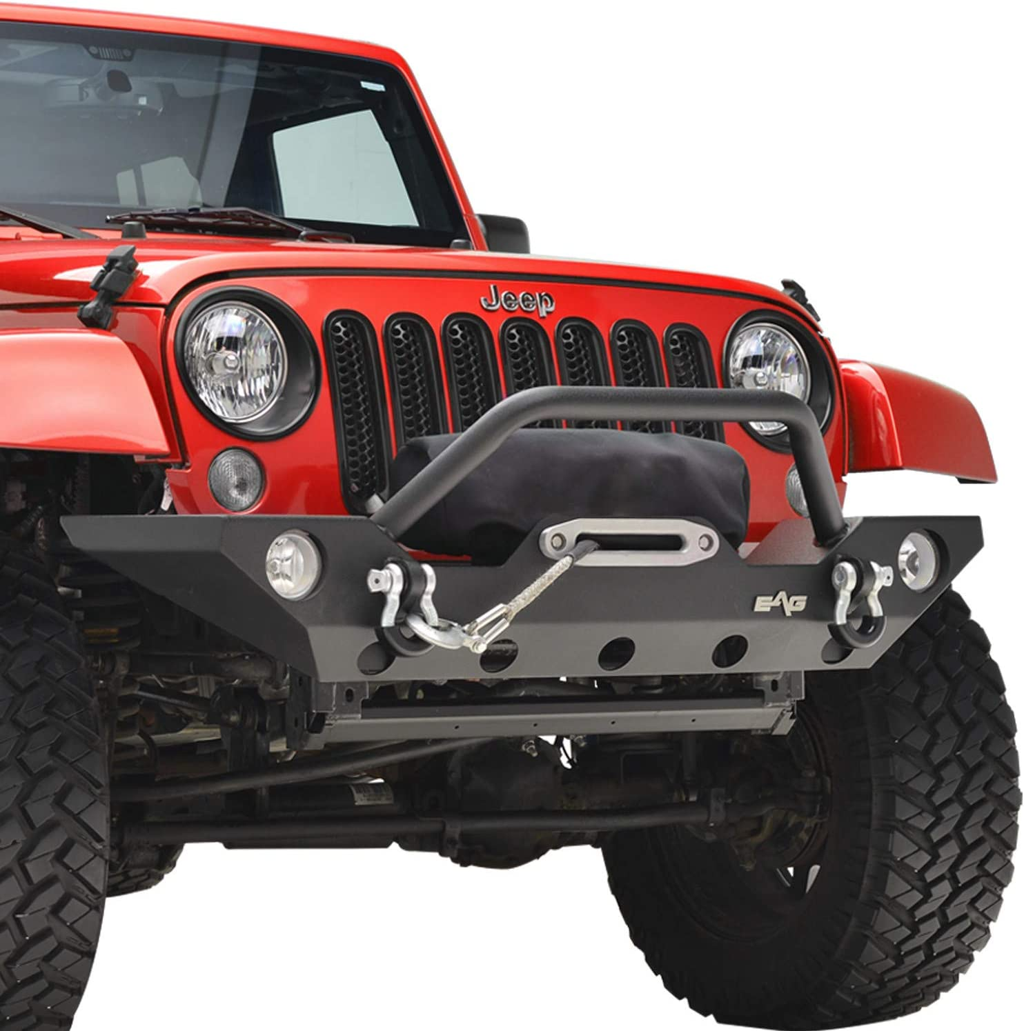 KML 出群 買い取り Front Bumper Black Rock Crawler and Plate Winch D-rings with