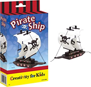 Creativity for Kids Paint Your Own Pirate Ship Mini Kit – Wooden Toy Pirate Ship