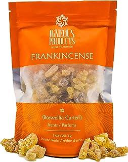 Igneous Products Frankincense Resin (28.35 grams)   Organic Premium Incense   Monastery Incense   Olibanum   Boswellia Car...