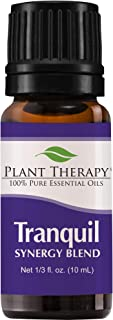 Plant Therapy Essential Oils Tranquil Synergy Blend - Stress Relief, Sleep, Peace & Calming Blend 100% Pure, Undiluted, Natural Aromatherapy, Therapeutic Grade 10 mL (1/3 oz)