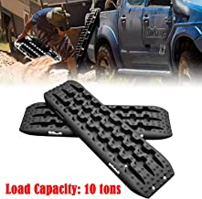 CAROCK Offroad Traction Boards Recovery Traction Mats 4WD Tire Traction Extraction Boards for Mud Sand Snow(2 Pcs,Black)