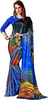 Jaanvi fashion Womens Crepe Silk Printed Saree (celebration-7701-b)
