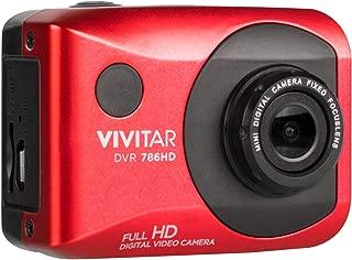 Vivitar DVR786HD 1080p HD Waterproof Action Video Camera Camcorder (Red) with Helmet & Bike Mounts