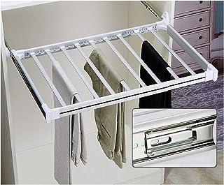 Gnova Porte Pantalons pour penderie Extractible Mini cintres de Rangement Coulissant,Range-Pantalon Multifuncional,Facile ...