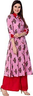 Sanganeri Women's Cotton Printed Kurta And Palazzo Set