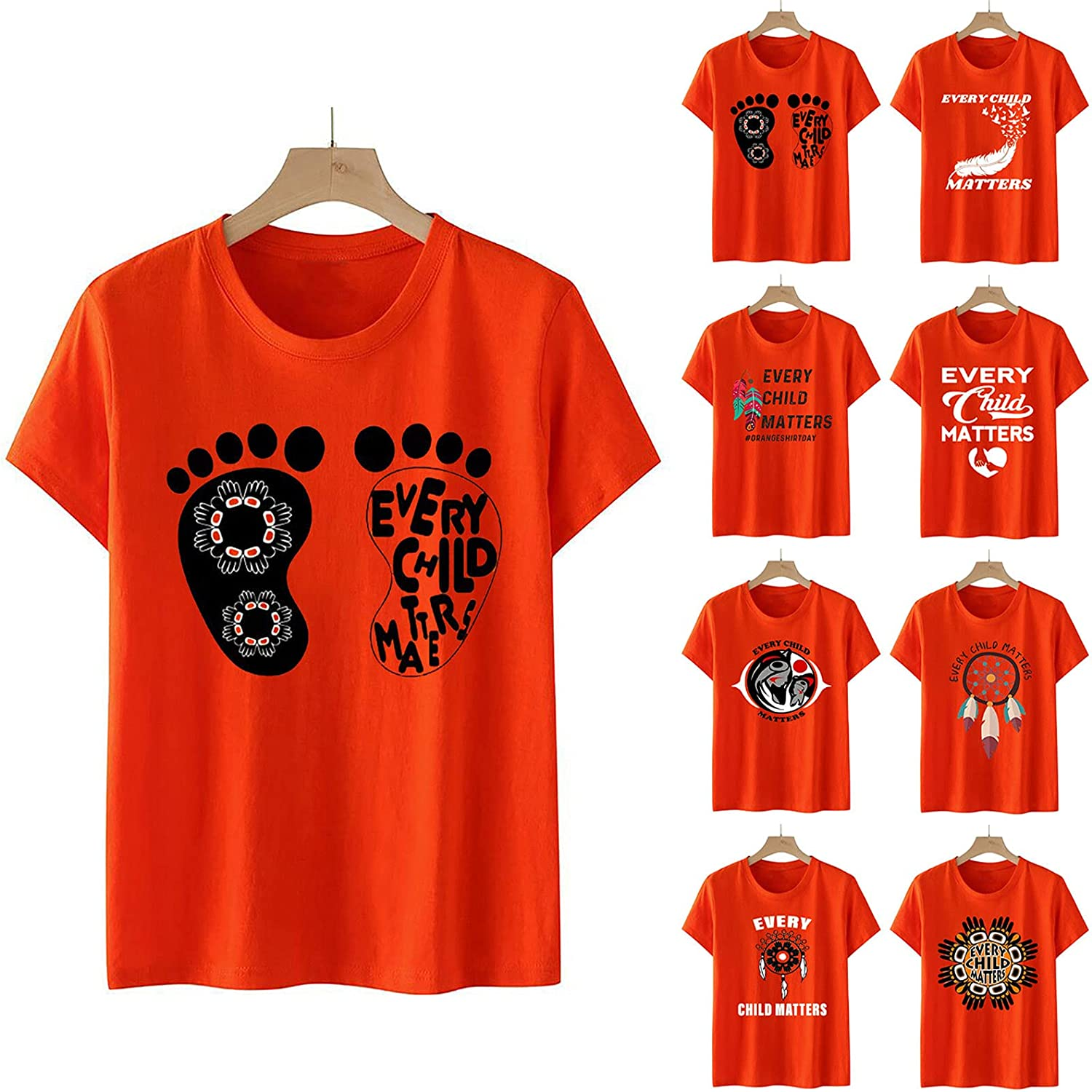 Every Child Matters T-Shirt,Orange Shirt Day,Unisex Residential Schools Tees Shirt Comfy Summer Tops