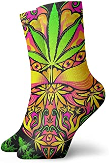 Dydan Tne, Cannabis Weed Leaf Dress Socks Calcetines Divertidos Crazy Socks Calcetines Casuales para niñas niños