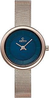 اوباكو ساعة  كاجوال للنساء ، بسوار ستانلس ستيل ، V146LXVLMV