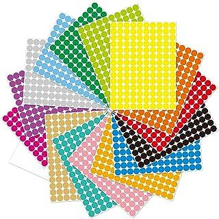 Dot Sticker Label, ELECDON Round Polka Circle Mega Bundle in Assorted 20color/ 2800pcs Color Coding Circle Dot Labels Colo...