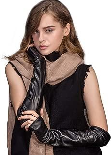 YISEVEN Women's Touchscreen Lambskin Leather Long Evening Opera Gloves Pleats