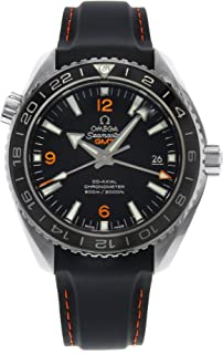 Omega Planet Ocean GMT Black Dial Rubber Strap Mens Watch 23232442201002