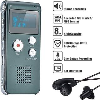 Covy Digitale dicteerapparaat, 8 GB audio-opname-apparaat, digitale voicerecorder met spraakherkenning voor interview, lez...