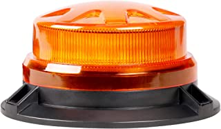 Primelux 12V/24V High Intensity LED Beacon Light for Service Trucks - Low Profile Compact Strobe Flashing Emergency Safety Warning Light for Trucks, Constructions, Security Vehicles - (Amber)