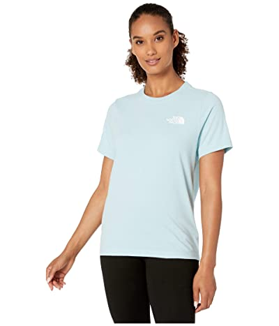 The North Face Short Sleeve Red Box T-Shirt (Windmill Blue/TNF White) Women