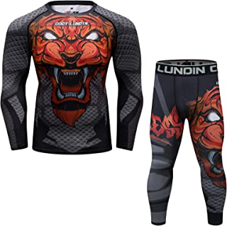 Fitness Full sublimations Suit Pants and Long Sleeve Shirt Breathless Gym Bottoming 2-Piece for Men's Set (Red, XX-Large)