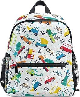 Vehículo coche pitido mochila para niñas niños niños niños escuela viaje niños mini bolso