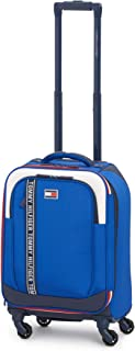 Tommy Hilfiger Campus Ready Softside Expandable Spinner Luggage, Royal, 21 Inch