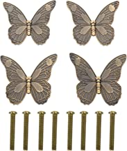 Angoily 4 Stuks Vintage Vlinder Kabinet Trekt Antieke Lade Knoppen Decoratieve Meubels Handvat Vervanging Met Schroeven Vo...