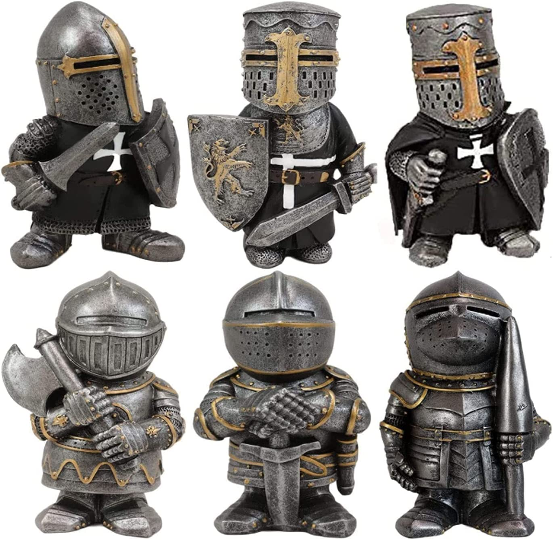 YHQKJ European Cross Templar Crusader Knight Gua Bargain Selling rankings Figurine Gnomes