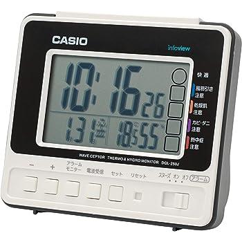 カシオ デジタル生活環境お知らせ電波目覚まし時計 日付表示 温・湿度表示付 DQL-250J-7JF