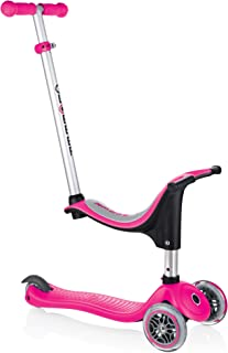 Globber - Evo 4-in-1 Convertible 3-Wheel Scooter - Adjustable T-bar and Removable Seat - for Girls and Boys Age 15 Months to 6 Years