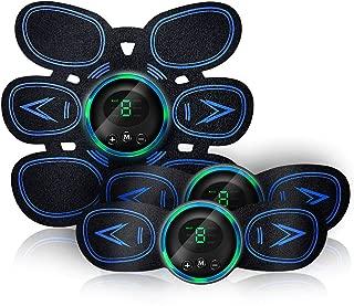 EMS 腹筋ベルト 筋トレ器具 USB充電式 液晶表示【最新強力モデル 6モード 9段階強度】腹筋トレーニング ダイエット ジェルシート10枚付き 日本語説明書付き