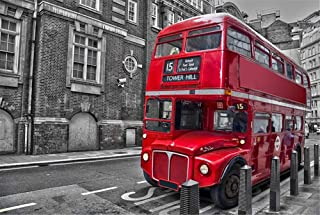 Queenie 1000 Piece London Red Vintage Double Layer Bus Wooden Jigsaw Puzzle Games Relax Your Mind Puzzle Boxes Toys Photo Frame Gifts