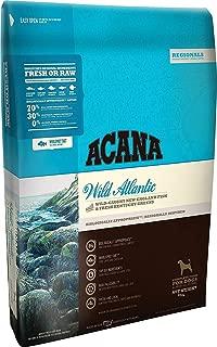 ACANA 25 LB Regionals Comida seca para perros, Fórmula Wild Atlantic, bolsa de 25 lb. (Pescado salvaje de Nueva Inglaterra y verduras frescas de Kentucky).