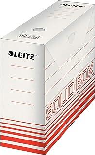 Esselte Leitz Boite archive Solid, 100mm, carton ondulé, rouge