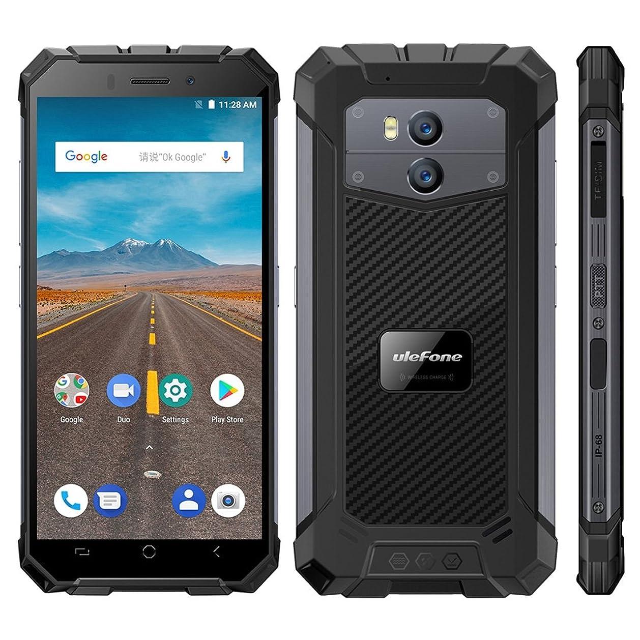 雪だるまを作る含意ビヨン中国ブランドの電話 IP68防水防塵ショックプルーフ、デュアルバックカメラ、5500mAhバッテリー、フェイス&指紋認証、5.5インチAndroid 8.1 MTK6739クワッドコア64ビット、最大1.5GHz、ネットワーク:4G、NFC、OTG、ワイヤレス充電 (色 : Dark Gray)