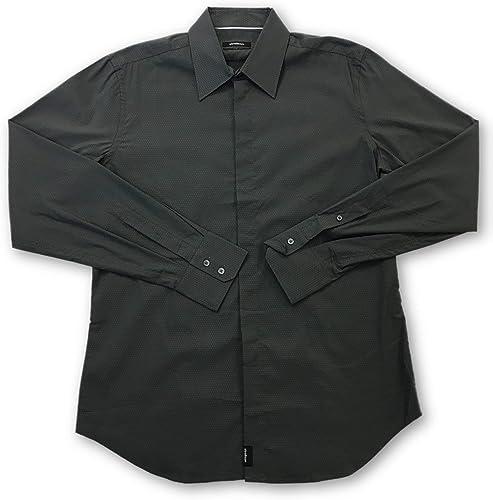Strellson Slim fit Shirt in Dark gris - 15.75