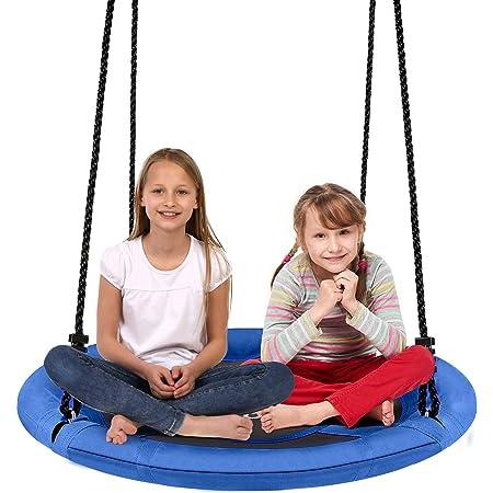 Wooden Swing Kids Seat Swing Rope Tree Fun Outdoor Summer Play 330lbs Capicity