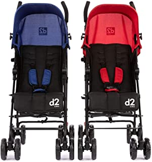 Diono Two2Go Lightweight Stroller, Red/Blue (2-Pack)