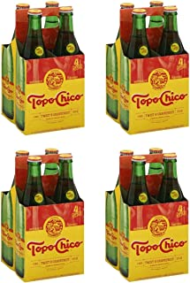 Topo Chico Sparkling Mineral Water, Twist of Grapefruit, 12 Fl Oz, 4 Count (Pack of 4)