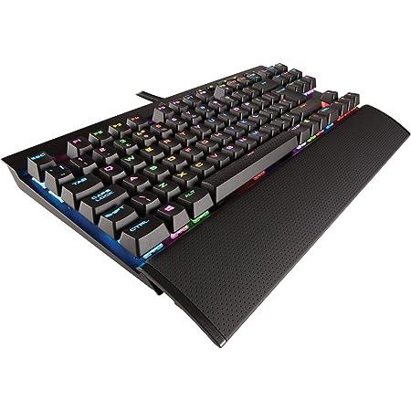 Corsair K65 LUX RGB, Teclado Alámbrico, Estándar, USB, Interruptor mecánico, QWERTY, LED RGB, Negro