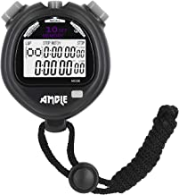 Stopwatch, Amble Countdown Timer and Stopwatch Record 10 Memories Lap Split Time with Tally Counter and Calendar Clock with Alarm for Sports Coaches and Referees