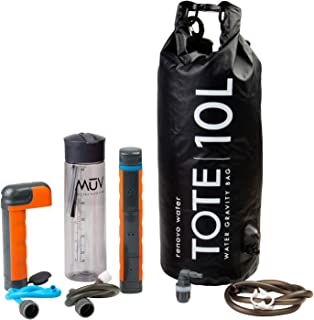 Renovo Water MUV Eclipse Survival Water Filter System - Blocks Chemicals, bacteria, Viruses, and More - The Ultimate Survi...