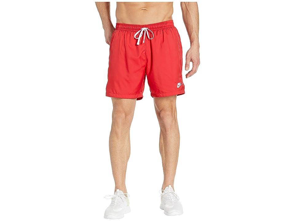 Nike NSW Woven Flow Shorts (University Red/White) Men