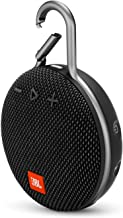 JBL Clip 3 Portable IPX7 Waterproof Wireless Bluetooth Speaker with Built-in Carabiner, Noise-Canceling Speakerphone and Microphone, Black (Renewed)