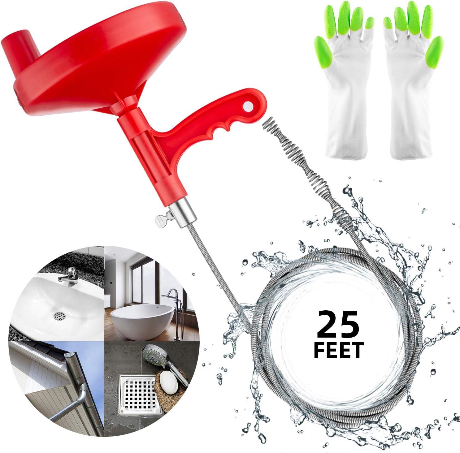 Buy Oriflame 25 Feet Plumbing Snake Drain Auger Sink Snake Pipe Drain Cleaner For Bathroom Kitchen Sink Shower Drain Come With Gloves Online In Vietnam B07yc7szgk